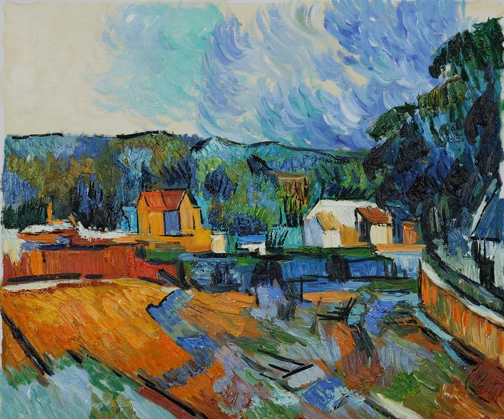 Close  I just love this....    Uferlandschaft  Paul Cezanne