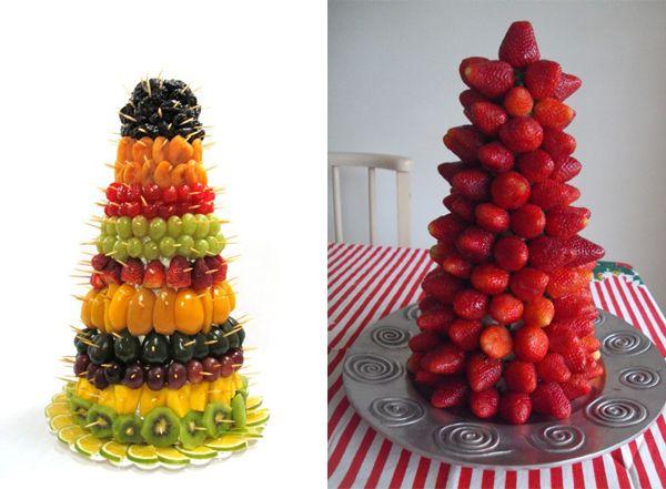 Comes+e+Bebes+ +Torres+Comestíveis+para+Decoração+de+Mesas+-+Casando+Sem+Grana