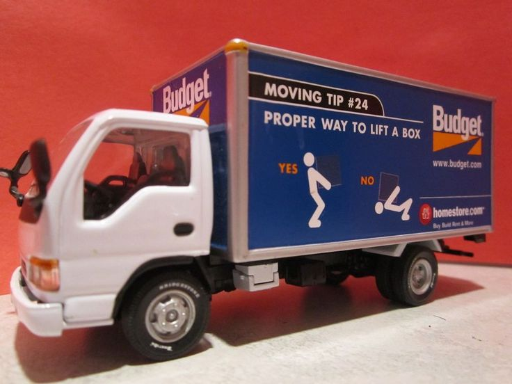 Budget Moving Truck/Van Rental Diecast Advertising - Highly Detailed!