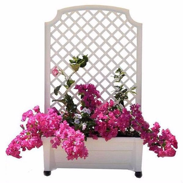 White Outdoor Patio 36 Deluxe Large Garden Planter Flower: 1000+ Ideas About Square Planters On Pinterest