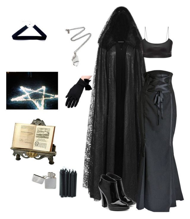 """""""witch girl"""" by shyanne-andrade ❤ liked on Polyvore featuring Giuseppe Zanotti, Pamela Love and LIST"""