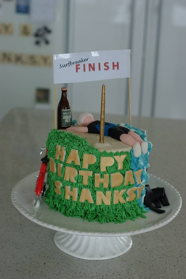 Triathlete Finish Line Birthday