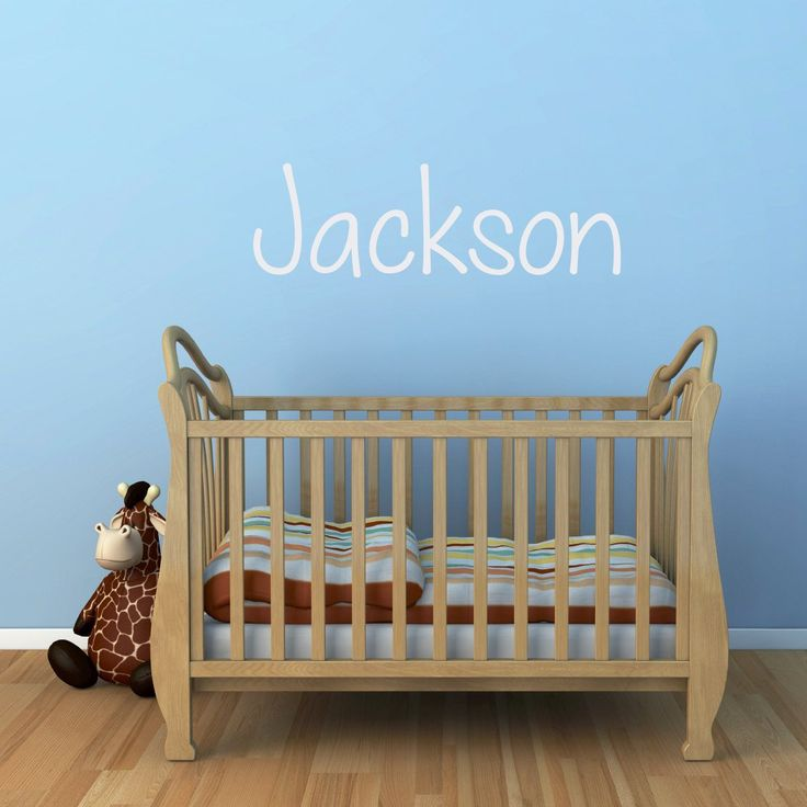 """Name Decal - Boy Name Wall Decal - Personalized Name Wall Sticker - 4. The Boys Name Wall Decal is available in the color and size of your choice. See the color chart for your options. Color pictured is White. The photographs are for a reference be sure use the measurements when ordering.. Sizes:. Small - 16"""" wide. Medium - 22"""" wide. Large - 28"""" wide. Extra Large - 34"""" wide. The Big One - 40"""" wide. (The height of the decal varies with size and name chosen.). ** Please type your child's…"""