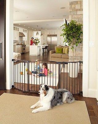 extra wide baby gate child safety pet walk thru dog through dog gates infant new - Doggie Gates