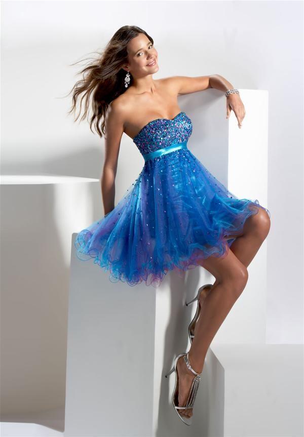 Vestidos de noche azul turquesa 2013