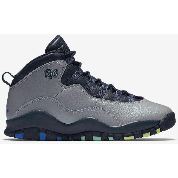 Air Jordan Retro 10 (3.5y-7y) Big Kids' Shoe. Nike.com ($140) ❤ liked on Polyvore featuring shoes