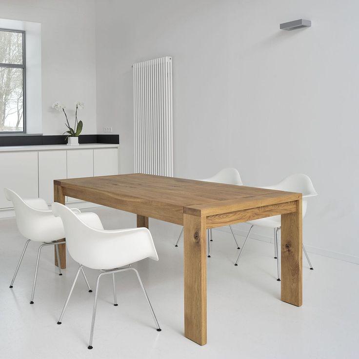 mesa de comedor moderna de madera maciza rectangular lungo vitamin design dona