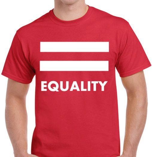 LGBT SHIRT Equality Pride  Cherry Red T-shirt  by ALLGayTees