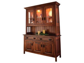 Ouray Six Door Hutch 3931 - Brandenberry Amish Furniture
