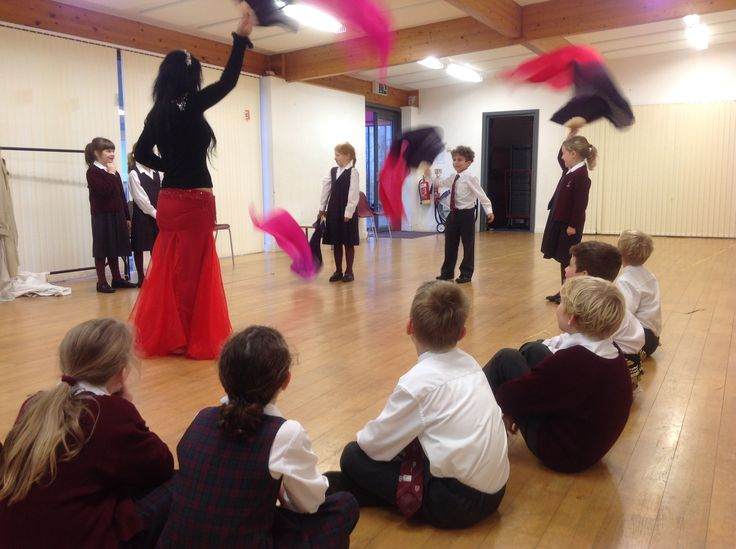 """This afternoon the pupils in Year 3 have enjoyed a Fantastic Finish to their Michaelmas Term creative curriculum topic, with an enjoyable visit from Özlem Green, a professional dancer and teacher. Everybody had fun participating in an Egyptian Dance workshop, during which they had the opportunity to watch a dance performance. The children shimmied their way through some dance moves and tried out some props and costume pieces. They are now able to, quite literally, """"Walk Like An Egyptian""""."""