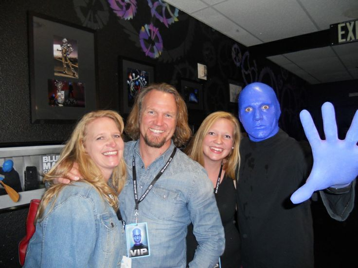 TLC's #SisterWives star Kody Brown and his wife Christine celebrated their daughter Aspyn's birthday at #BlueManGroup