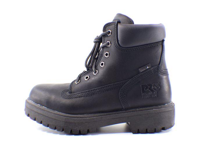 "Timberland Pro Series 6"" Basic Boot Black Hommies Waterproof Size 7.5"