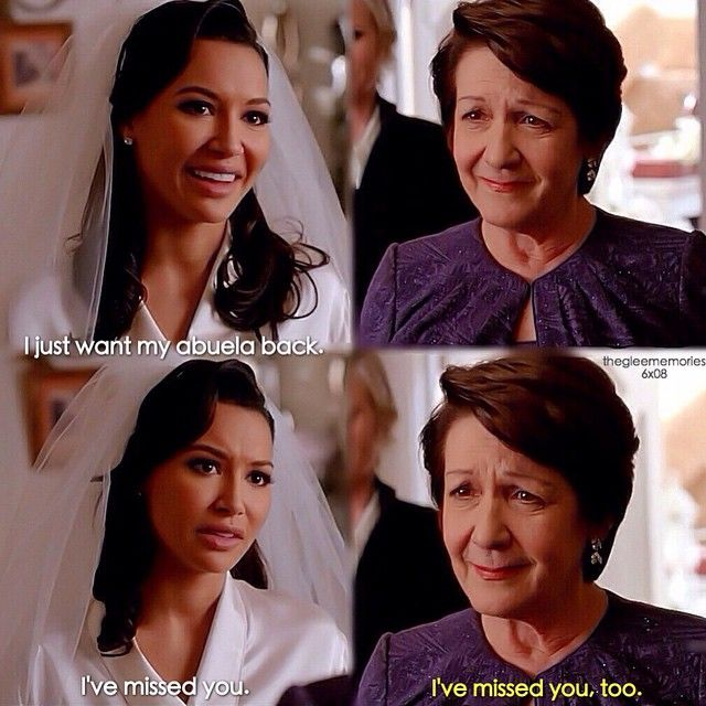 "#Glee 6x08 ""A Wedding"" - Santana and her grandmother"