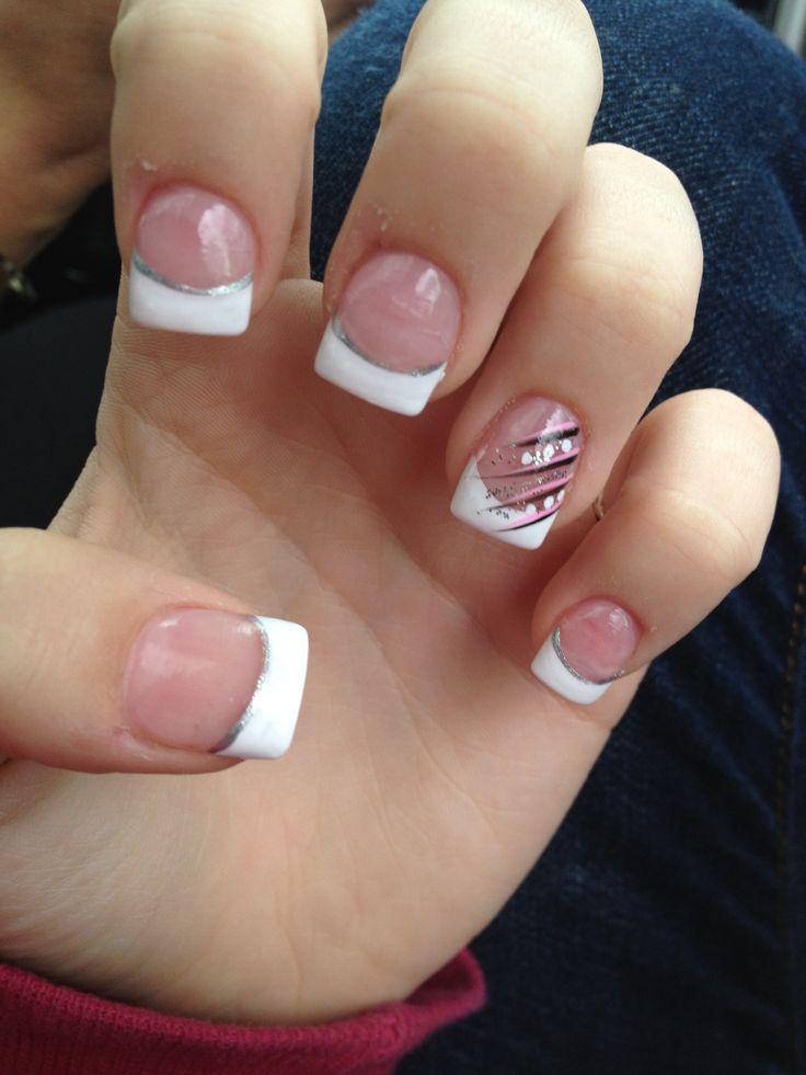 tip nails acrylic nail tips french nails french tip manicure tips nail ...