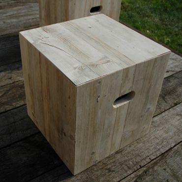 Kruk Type Z-A-001 in oud steigerhout | Outdoor | Meubelen | Rawcreations