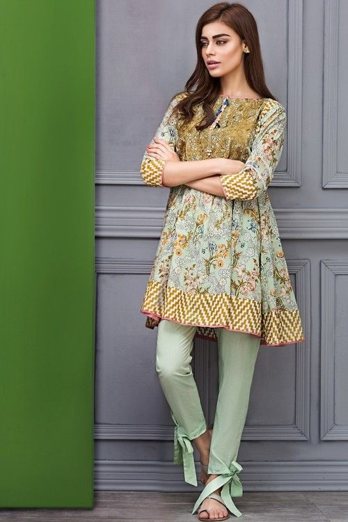 Libasco | Khaadi 2 Piece Stitched Embroidered Lawn Suit - I17111-A - Green | Buy Pakistani dresses online. Salwar Kameez & salwar suit by Pakistani designers. Stitched original designer dresses from Pakistan.