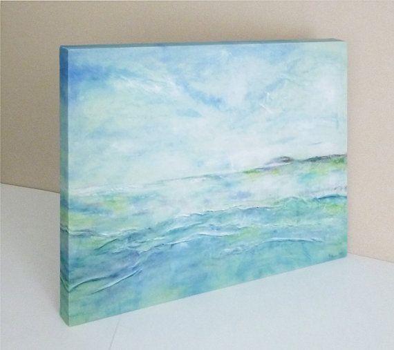 Giclée Print Canvas Ocean Painting Abstract by AnnaKisArt on Etsy