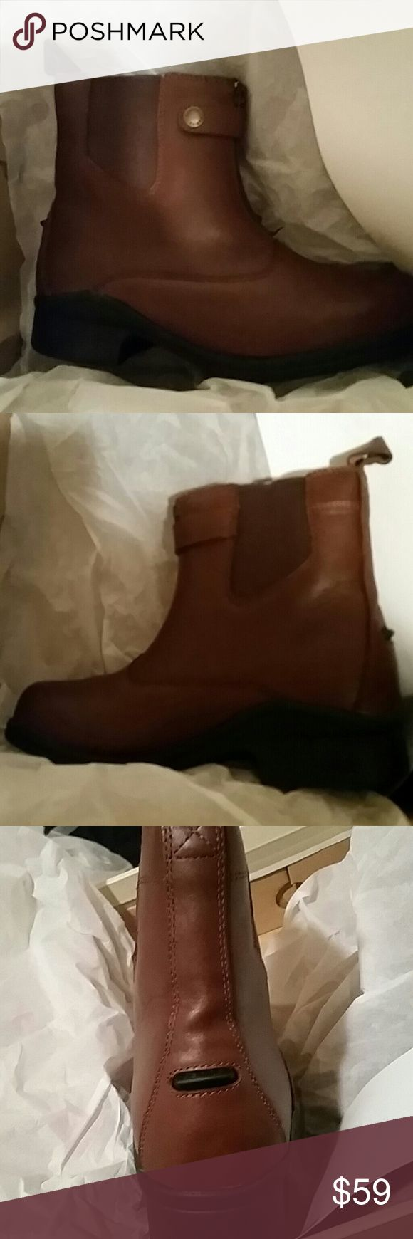 NIB Sanita Brittany Woman's Boots sz 6.5 Sanita Brittany women's leather ankle Chelsea boots Brown size 6 and a 1/2 Sanita Shoes