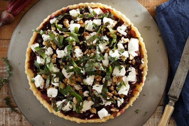 Impress guests with this tasty beetroot and goats' cheese tart.