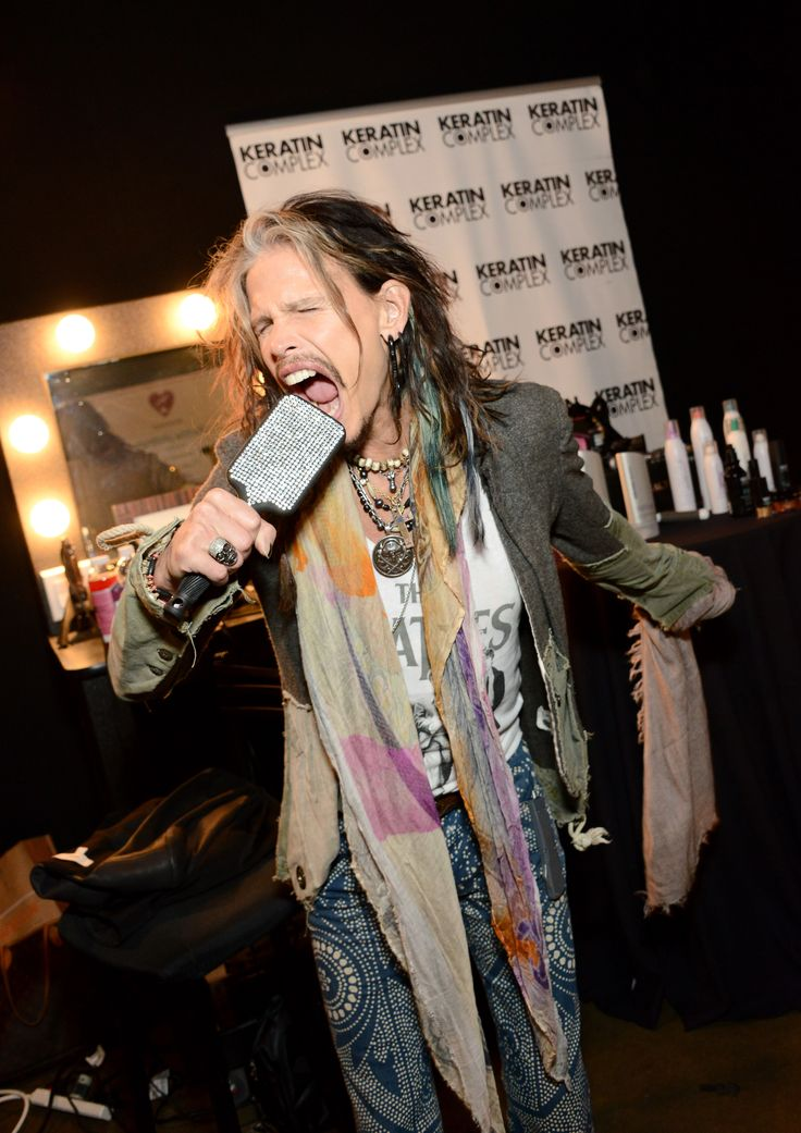 Steven Tyler attends the 2014 MusiCares Person of the Year rehearsals.