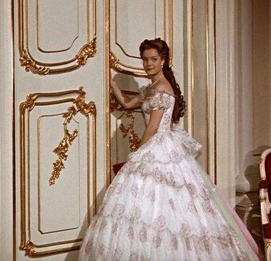 Romy Schneider as Sissi (2) with beautiful white Gown