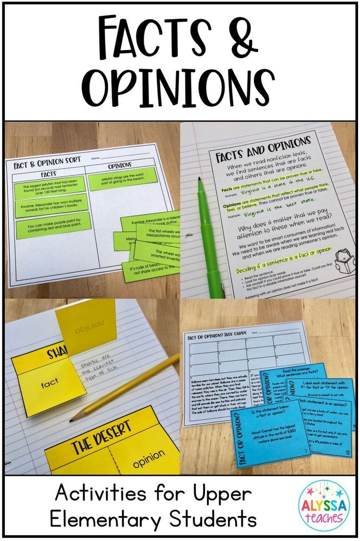 Teaching fact and opinion is so easy with this comprehensive resource  perfect for 4th and 5th grade! I…   Fact and opinion [ 1104 x 736 Pixel ]