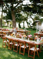 perfect for a casual ,yet still beautiful bbq wedding reception