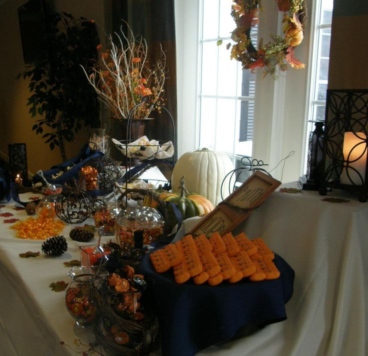 halloween themed wedding candy buffet - Halloween Themed Wedding Reception