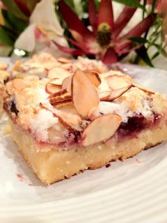 The Purple Martin: Swedish Raspberry Almond Bars Recipe