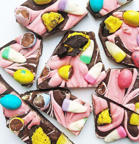 Hold onto your hats: Easter Candy Bark by Gingerbread Bagels. You've got to check out this recipe. So much fun.