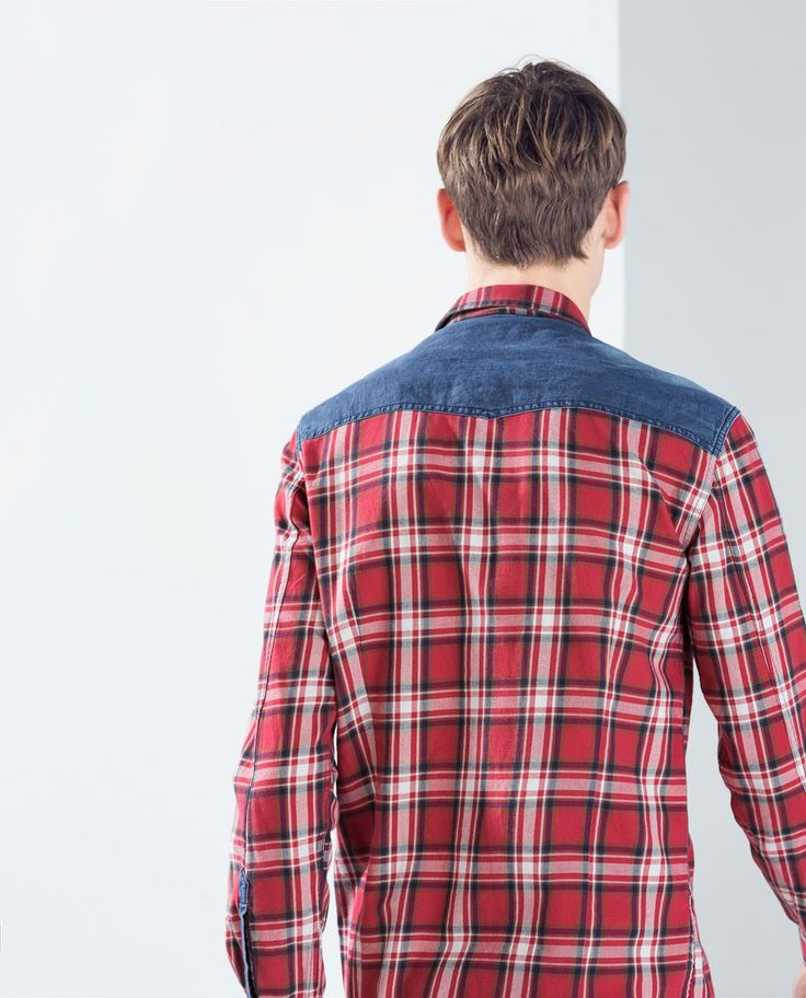 ZARA - COLLECTION SS15 - CHECKS AND DENIM SHIRT