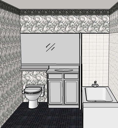 Bathroom Wallcovering French Toile Room Decor Bathroom: 1000+ Images About THE TAN BATHROOM On Pinterest