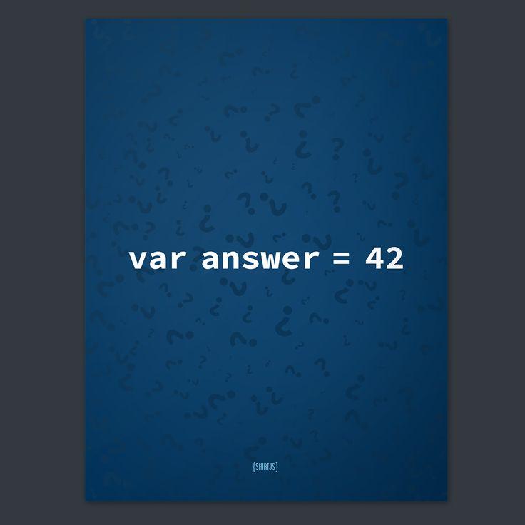 Var Answer = 42 (Poster)   ShirtJS