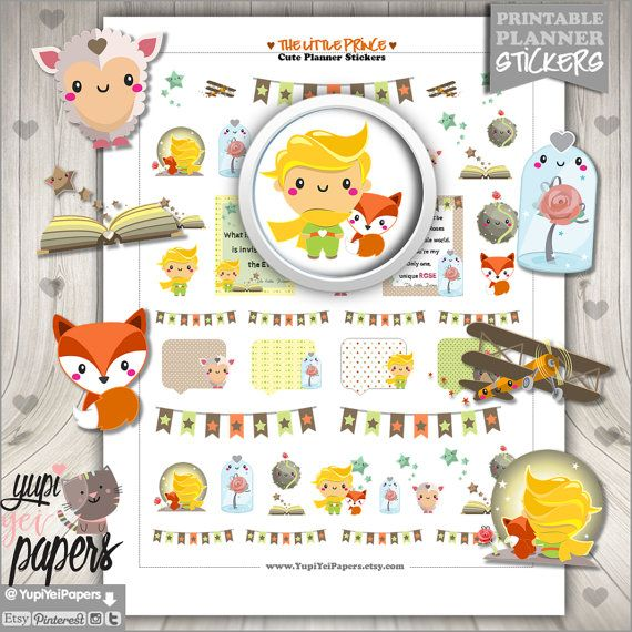 The o 39 jays planners and stickers on pinterest - Sticker petit prince ...
