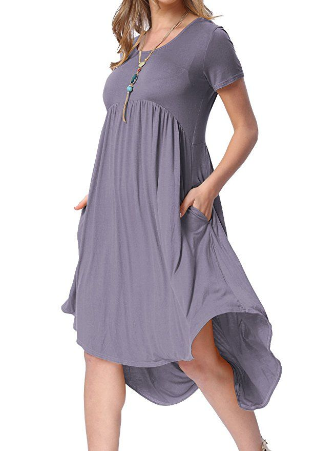 253d1f5f2a71b Levaca Womens Summer Scoop Neck Flowy Casual Flared Party Dance Dress  Daybreak L