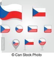 Bandera de la República checa, iconos.