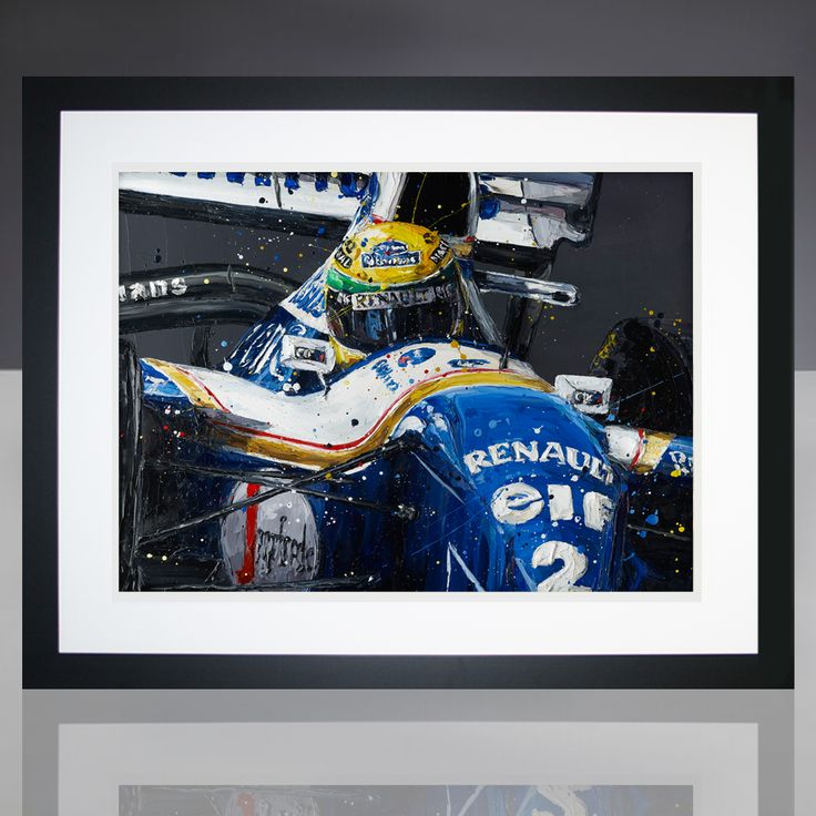 Paul Oz is the buzz word in Formula One art; widely acclaimed for his explosive and energetic artworks and well-respected for his genuine passion for the sport. We are proud to present to you this limited edition, hand embellished Paul Oz print, which portrays Ayrton Senna in his 1994 Williams F1 car. Available as part of a strictly limited edition of just 300 prints. Each framed print measures approx 78 cm L x 62cm W and is professionally framed in a black frame, with white mount for max...