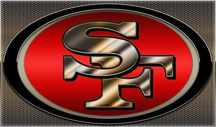 Metallic Niners Logo | 49ers | Pinterest | 49ers live and ...