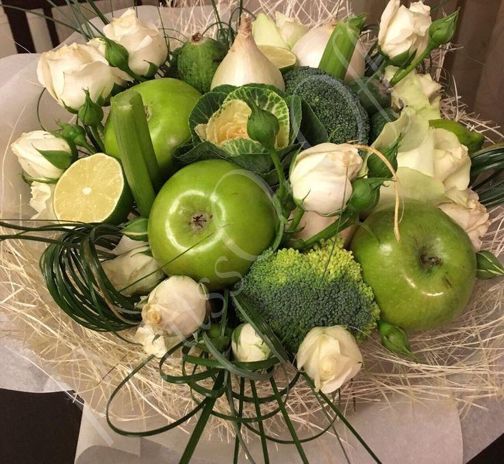 Зеленый букет из овощей, для