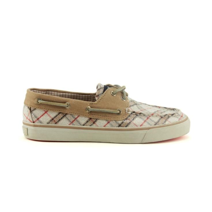 Sperry Blue White Striped Boat Shoes Seersucker