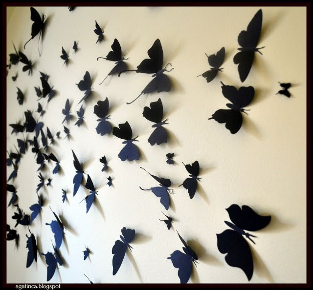 Diy Butterfly Wall Decor With Butterfly Wall Decor Gossip Girl
