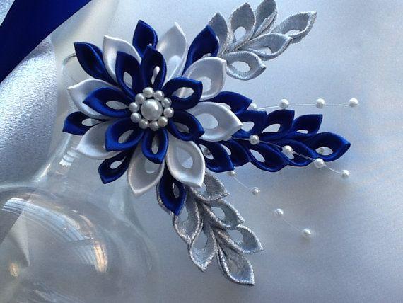 Fermaglio per capelli blu Royal blu cobalto di LihiniCreations