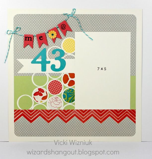 Card Making Layouts Ideas Part - 26: Layout By Vicki Wizniuk Using CTMH Dotty For You Paper