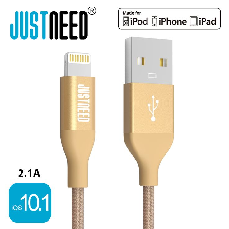 Original MFi Certified Metal Plug Nylon Braided Wire 8 Pin Mobile Phone Cable Usb Data Sync Charger for iPhone 6 7 s iPad iOS 10