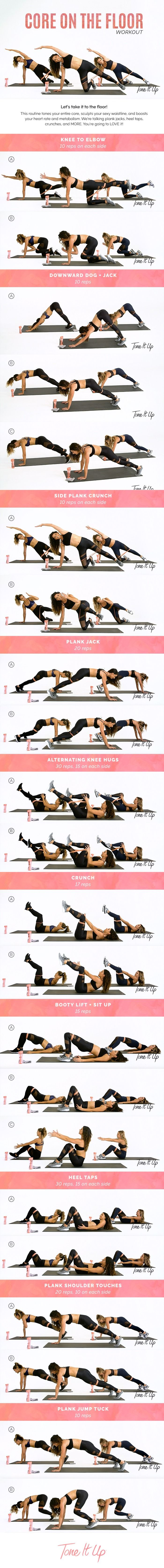 New Core on the floor workout! Watch the video with Becca Tilley on ToneItUp.com
