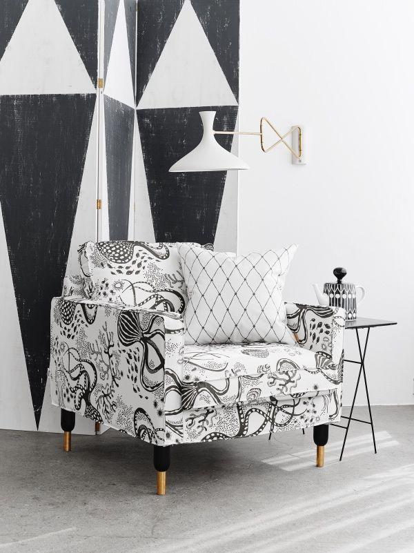 Tela Aquatic de Littlephant para tapizar 😍 #telas #telaaquatic #littlephant #shopnordico #telasparatapizar #scandinaviandesign