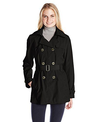 Calvin Klein Women's Double-Breasted Classic Trench Coat