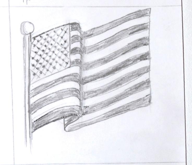 Waving American Flag Drawing Google Search Draw This Warm Ups