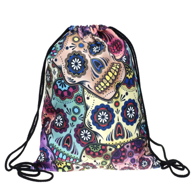 Mexican Skull Draw String Bag £8 // Free UK Delivery  https://www.teeisland.co.uk/shop/mexican-skull-draw-string-bag/