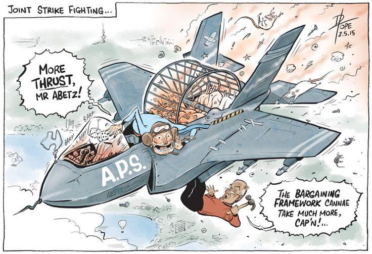 TONY ABBOTT'S WAR ON AUSTRALIAN PUBLIC SERVICE Cartoon by DAVID POPE.